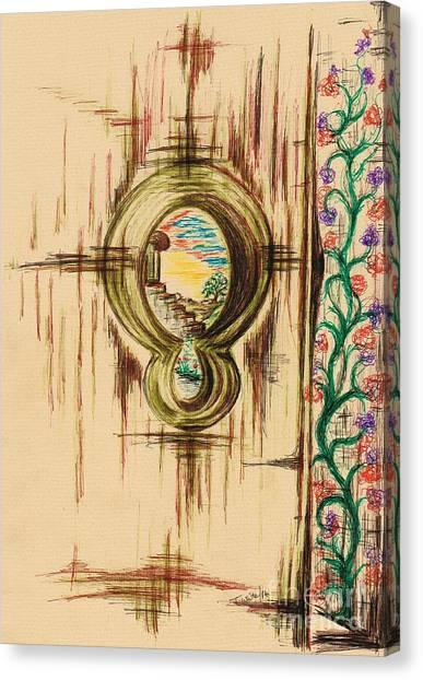 Garden Through The Key Hole Canvas Print
