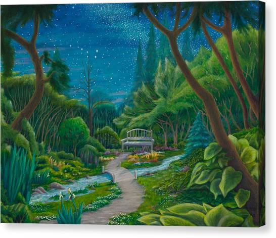 Garden Under Ursa Major Canvas Print
