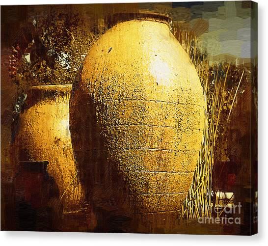 Garden Urns Canvas Print