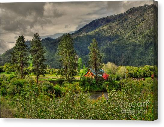 Garden Valley Canvas Print