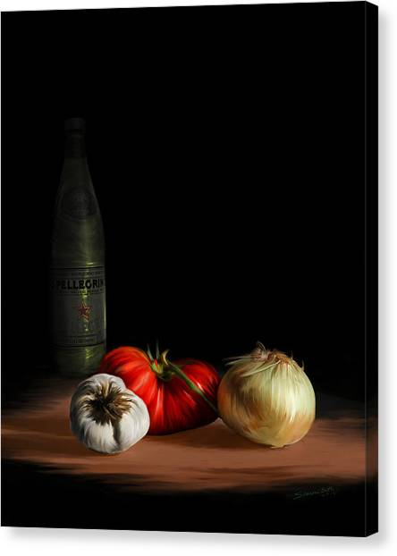 Garden Vegetables With Pellegrino Canvas Print