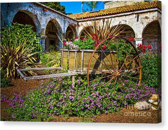Garden Wagon Canvas Print