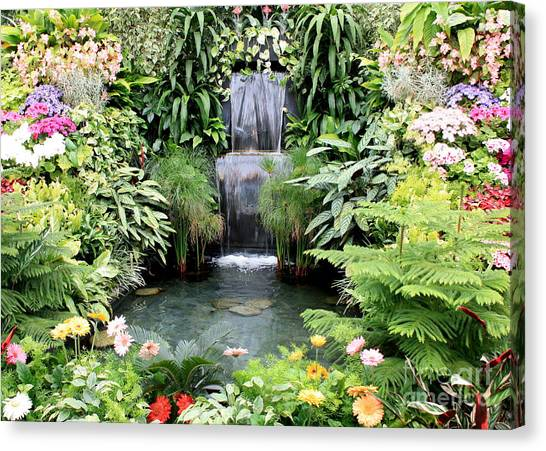 Garden Waterfall Canvas Print