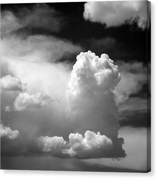 Grey Clouds Canvas Print - Garfield In The Skies by Christine Till