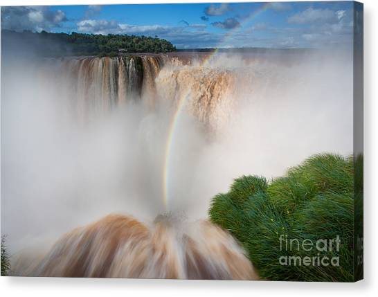 Iguazu Falls Canvas Print - Garganta Del Diablo by Inge Johnsson
