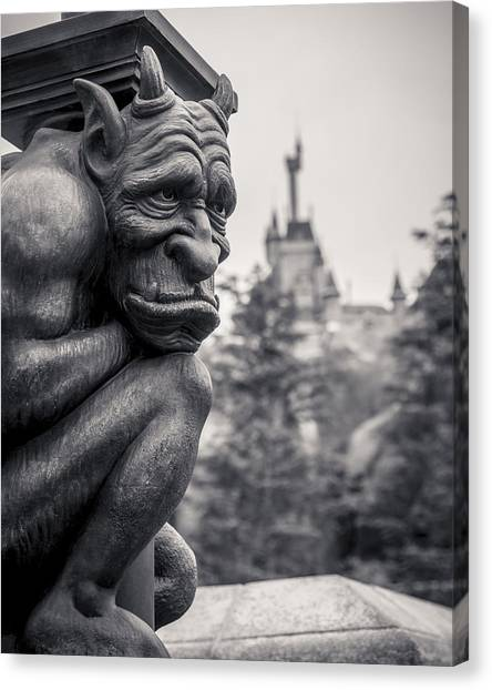Castle Canvas Print - Gargoyle by Adam Romanowicz