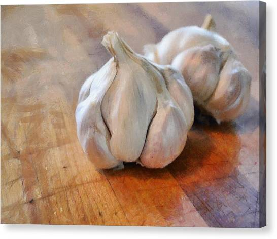 Garlic Cloves Canvas Print