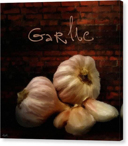 Ingredient Canvas Print - Garlic II by Lourry Legarde