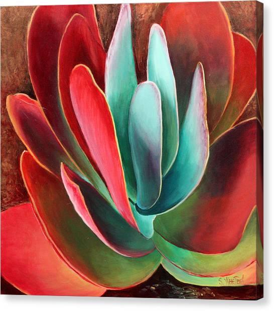 Canvas Print featuring the painting Garnet Jewel by Sandi Whetzel