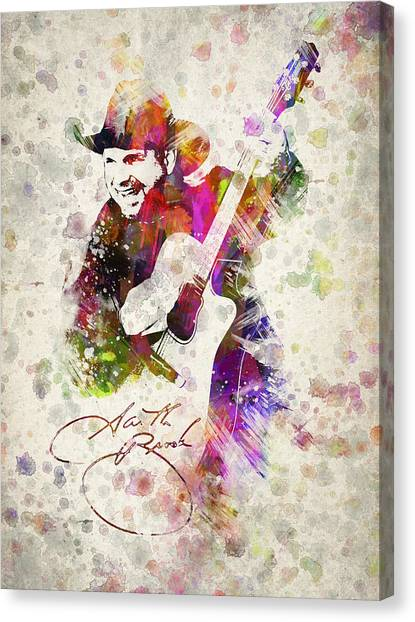 Saxophone Canvas Print - Garth Brooks by Aged Pixel