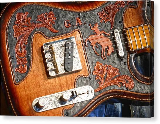 Gary Allan's Guitar Canvas Print by Don Olea