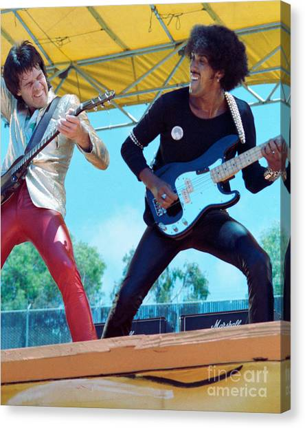 Gary Moore And Phil Lynott Of Thin Lizzy At Day On The Green 4th Of July 1979 - 1st Color Unreleased Canvas Print