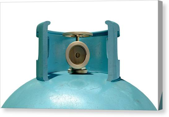 Bronce Canvas Print - Gas Cylinder Valve Closeup by Allan Swart