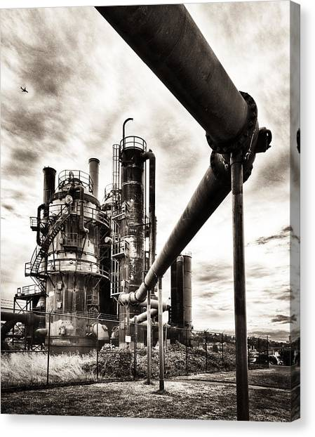 Gas Works Canvas Print