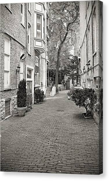 Pavers Canvas Print - Gaslight Court Chicago Old Town by Christine Till