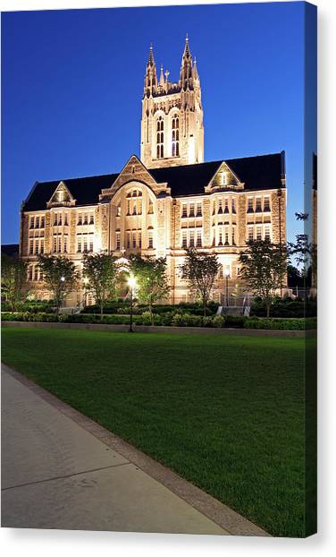 Boston College Canvas Print - Gasson Hall At Bc by Juergen Roth