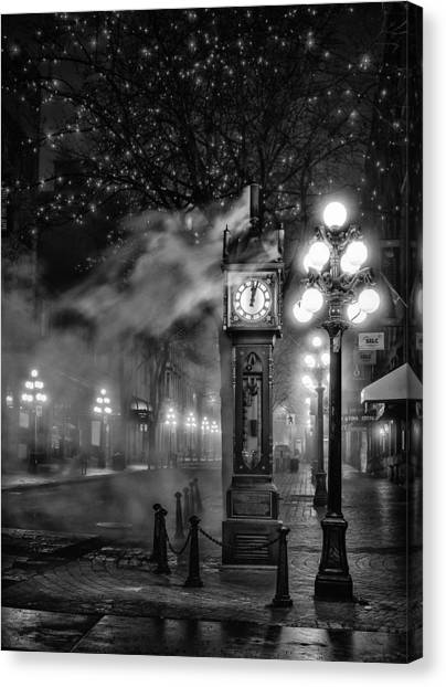 Vancouver Canvas Print - Gastown Steam Clock by Alexis Birkill