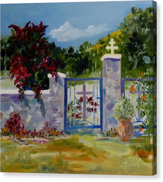 Gate At Tharri Monastery - Rhodes Canvas Print