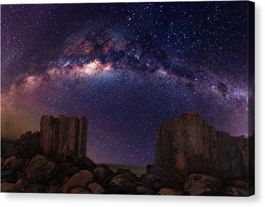 Gate To Heaven Canvas Print by Wolongshan