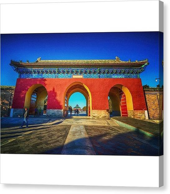 Sunny Canvas Print - Gate To Imperial Walkway In Temple Of by Sunny Merindo