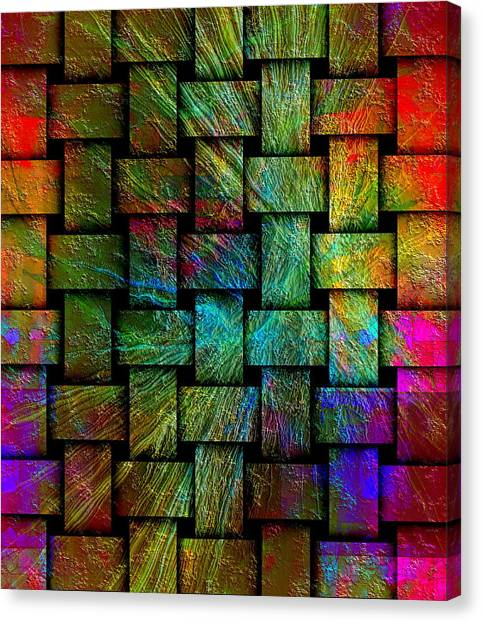 Canvas Print featuring the digital art Gate by Visual Artist Frank Bonilla