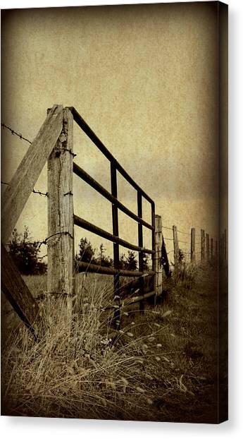 Gated Field Canvas Print