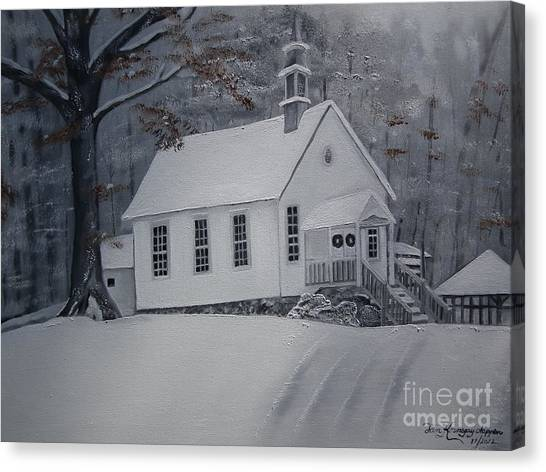 Gates Chapel - Ellijay - Signed By Artist Canvas Print