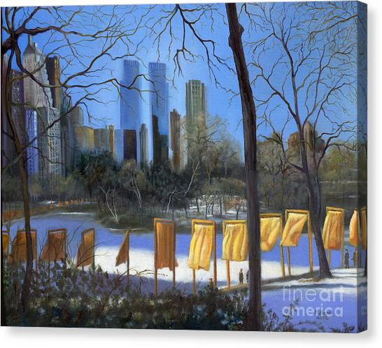 Warner Park Canvas Print - Gates Of New York by Marlene Book