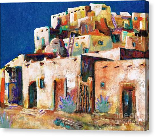Abstract Art Canvas Print - Gateway Into  The  Pueblo by Frances Marino