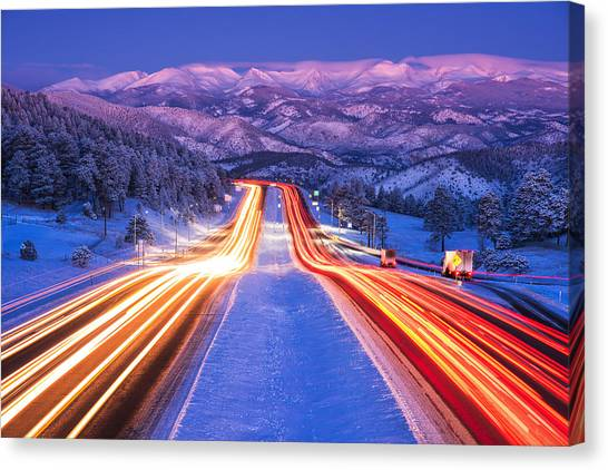 Colorado Rockies Canvas Print - Gateway To The Rockies by Darren  White