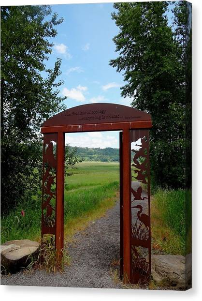 Gateway To The Trail Canvas Print by Lizbeth Bostrom