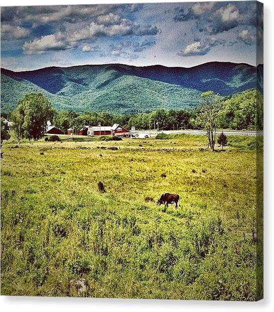 Vermont Canvas Print - Gateway To #vermont #pownal by James Whaley Cart