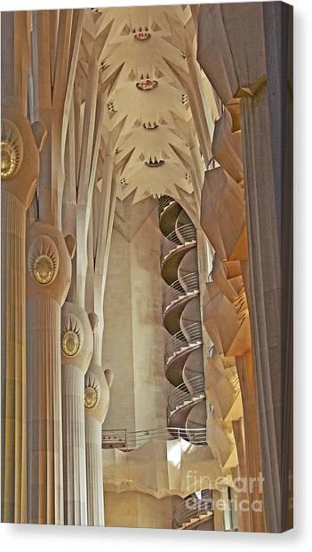 Gaudi's Spiral Stairs Canvas Print