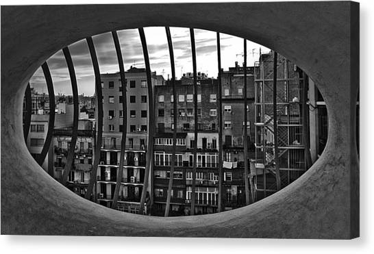 Gaudi's View Canvas Print