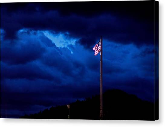 Gave Proof Through The Night That Our Flag Was Still There. Canvas Print