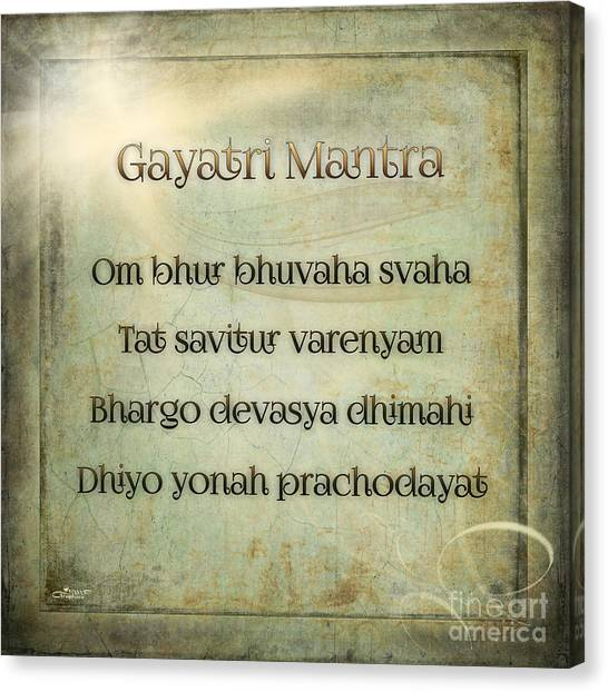 Gayatri Mantra Canvas Print