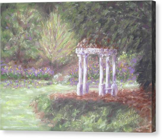 Gazebo At Hopelands In Spring Canvas Print