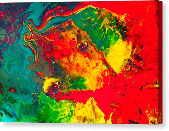 Gecko - Colorful Abstract Painting Canvas Print