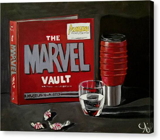 Geek Obsession - Still Life Acrylic Painting - Marvel Comics - Ai P. Nilson Canvas Print
