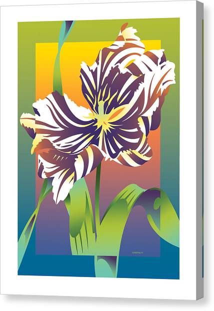 Geen Flamboyance Canvas Print