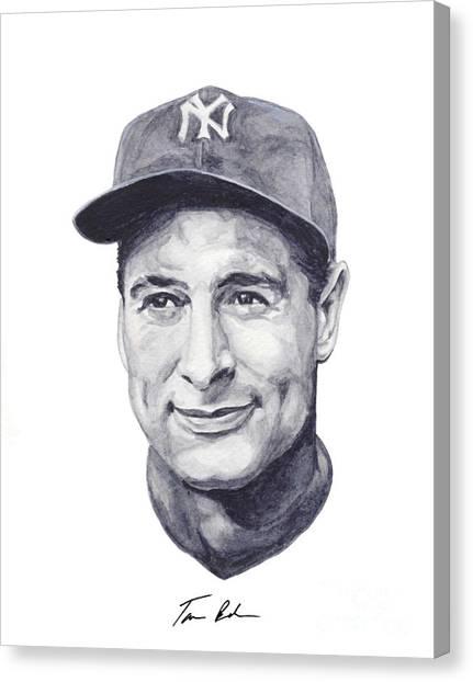 Lou Gehrig Canvas Print - Gehrig by Tamir Barkan