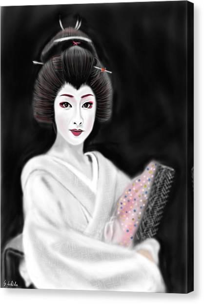Geisha No.155 Canvas Print by Yoshiyuki Uchida