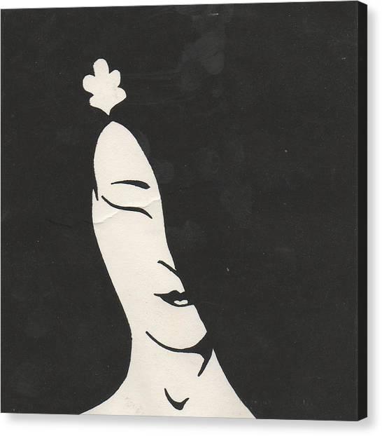 Geisha Canvas Print by T Ezell