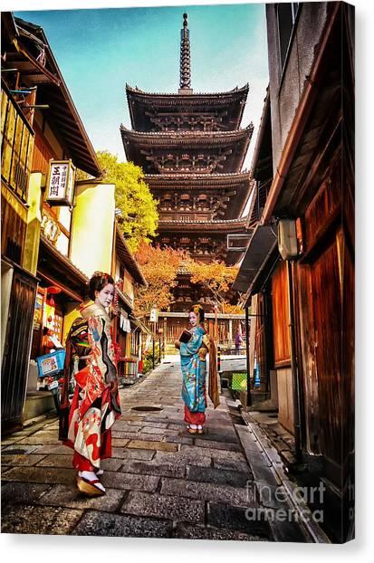 Geisha Temple Canvas Print