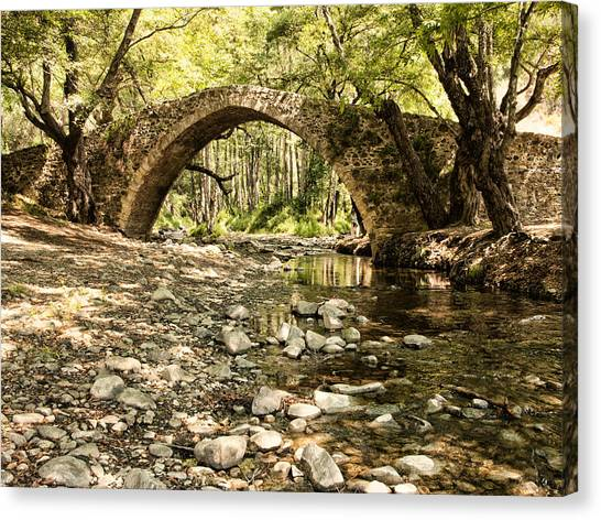 Gelefos Old Venetian Bridge Canvas Print
