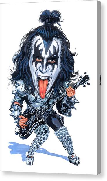 Caricatures Canvas Print - Gene Simmons by Art