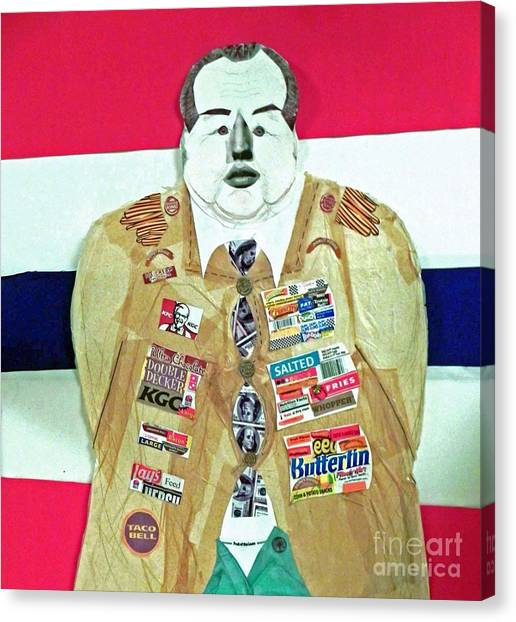 General Foods-a Self-made Man Canvas Print