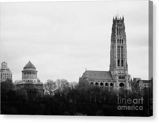 Manhatan Canvas Print - General Grant National Memorial And Riverside Church Riverside Park New York City by Joe Fox