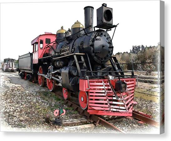 General II - Steam Locomotive Canvas Print
