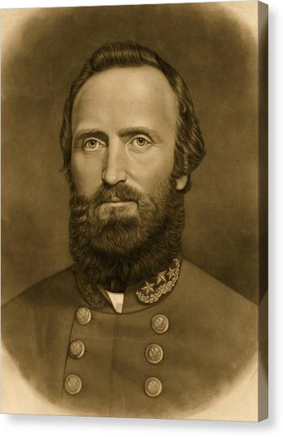 Confederate Army Canvas Print - General Stonewall Jackson 1871 by Anonymous